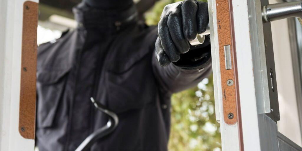 burglary breaking and entering front door